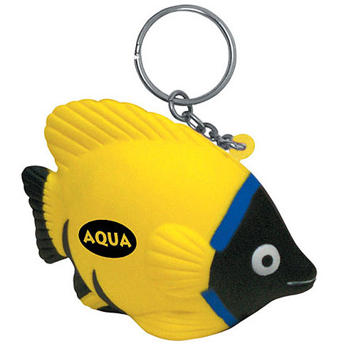 Promotional Tropical Fish Key Chain Stress Ball