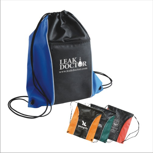 Promotional Two-Tone Drawstring Backpack