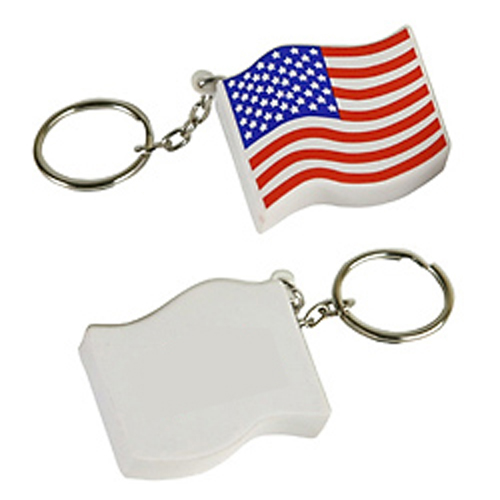 Promotional US Flag Key Chain Stress Ball
