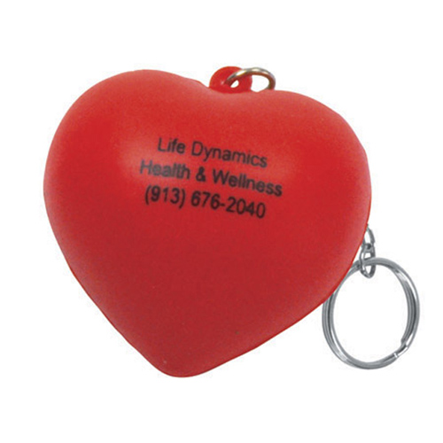 Promotional Valentine Heart Key Chain Stress Reliever