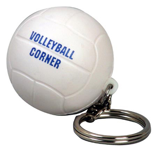 Promotional Volleyball Key Chain Stress Reliever