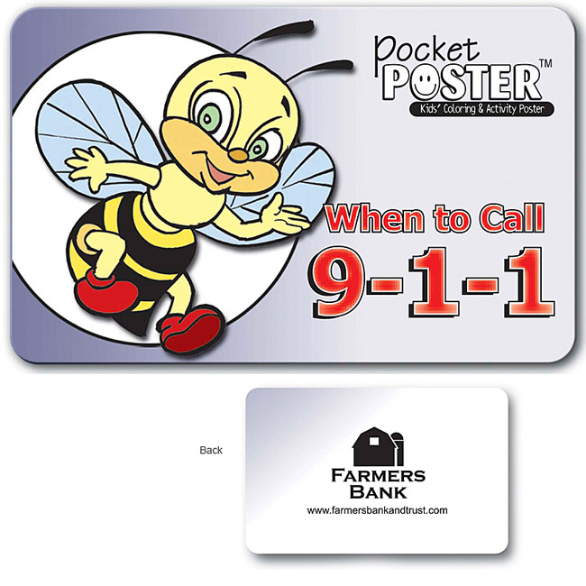 Promotional When to call 911 Pocket Poster