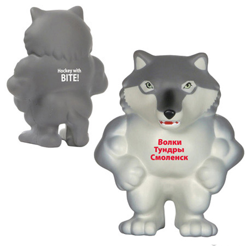 Promotional Wolf Mascot Stress Reliever