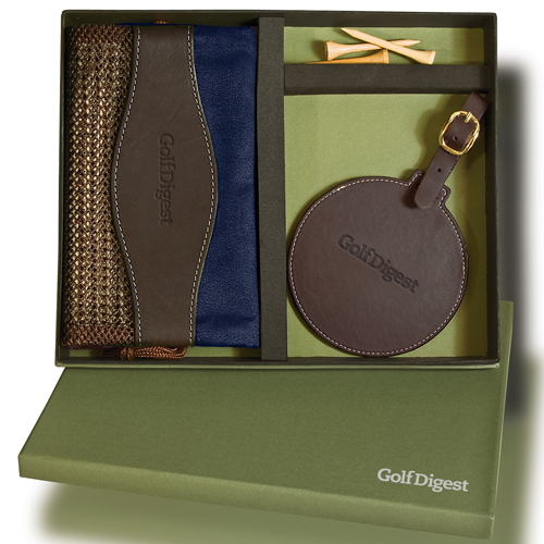 Promotional Woodbury Golf Pouch and Tag Set
