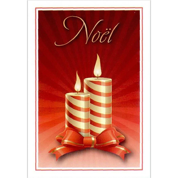 Promotional Yule Candles Holiday Card
