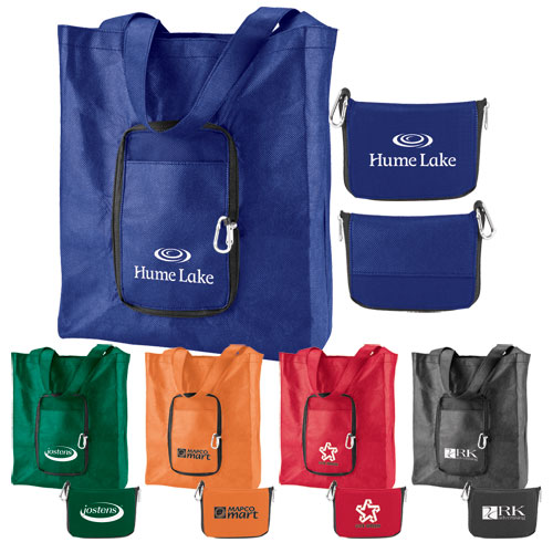 Promotional Zip-Up Pocket Tote