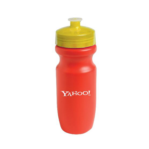 Bike Bottle-20 oz Red/Translucent Yellow