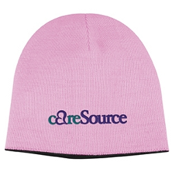 Two Tone Knit Cap Pink