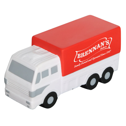 Printed Delivery Truck Stress Ball