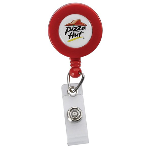 Retractable Badge Reel Red
