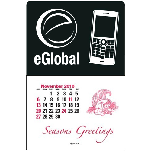 Press-N-Stick™ - Cell Phone Calendar Recycled Black