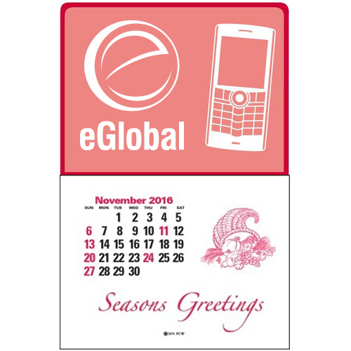 Press-N-Stick™ - Cell Phone Calendar Translucent Red