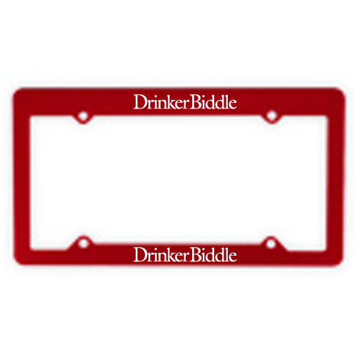 Economy License Plate Frame Red
