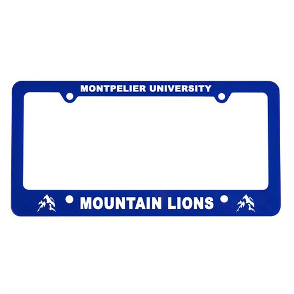 Classic License Plate Frame Blue