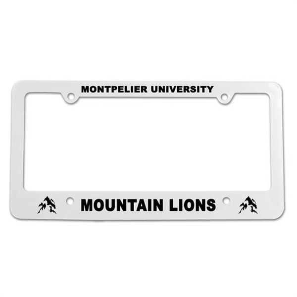 Classic License Plate Frame White