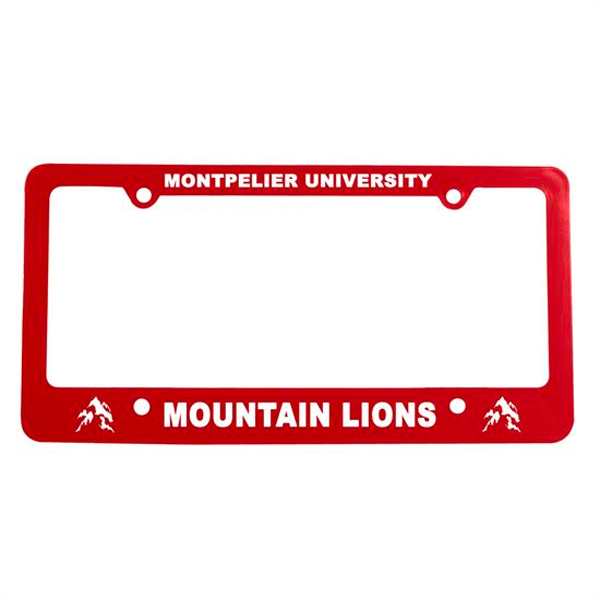 Classic License Plate Frame Red