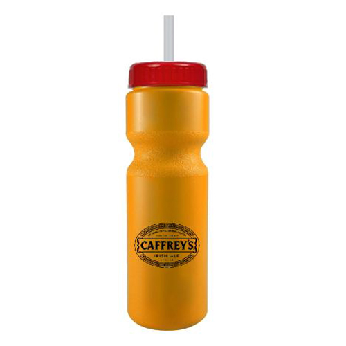 Journey Bike Bottle w/ Straw - BPA Free Athletic Gold/Red