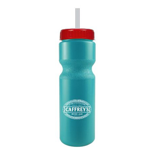 Journey Bike Bottle w/ Straw - BPA Free Turquoise/Red