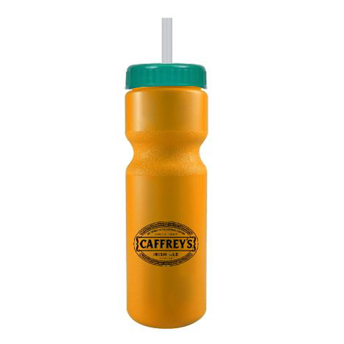 Journey Bike Bottle w/ Straw - BPA Free Athletic Gold/Teal