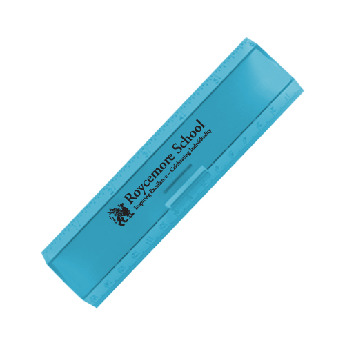 Leading Edge Ruler 6 Inch Translucent Blue