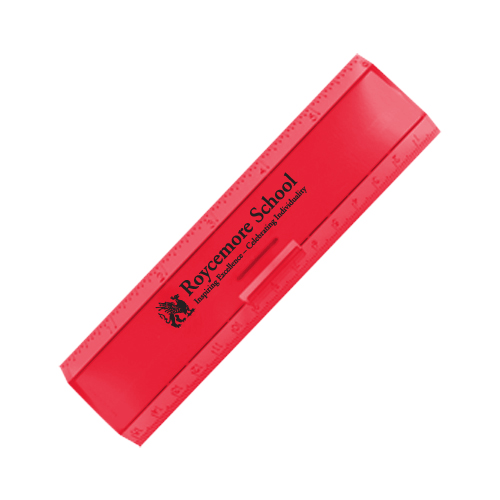 Leading Edge Ruler 6 Inch Red