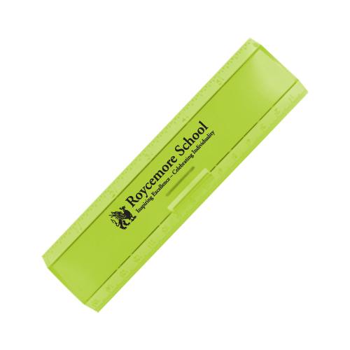 Leading Edge Ruler 6 Inch Translucent Lime