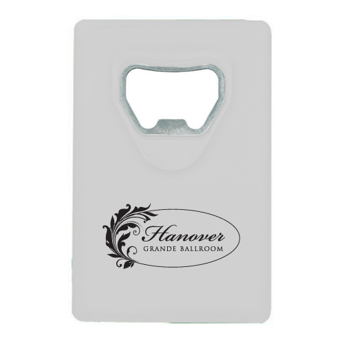Credit Card Bottle Opener White