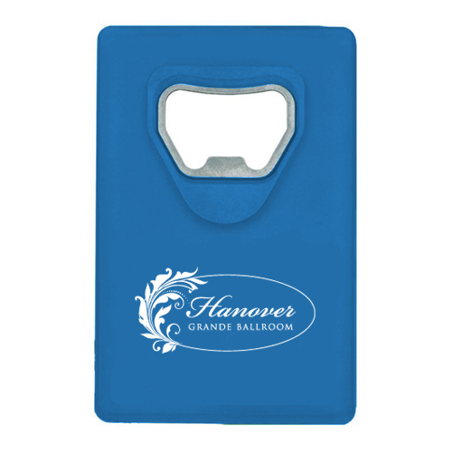 Credit Card Bottle Opener Blue