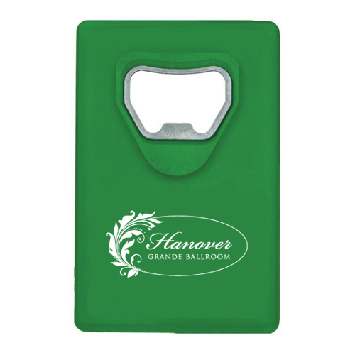 Credit Card Bottle Opener Green