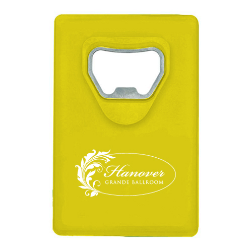 Credit Card Bottle Opener Yellow