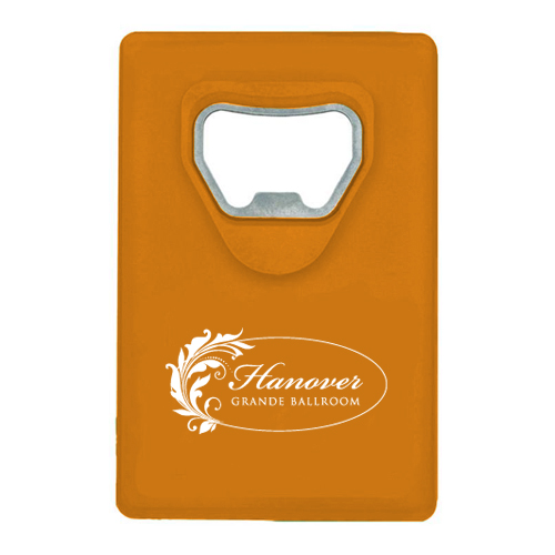 Credit Card Bottle Opener Orange
