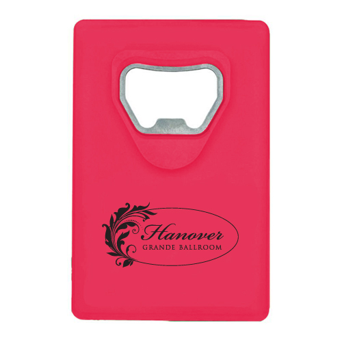 Credit Card Bottle Opener Translucent Red
