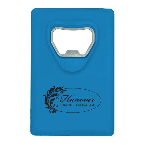 Credit Card Bottle Opener Translucent Blue