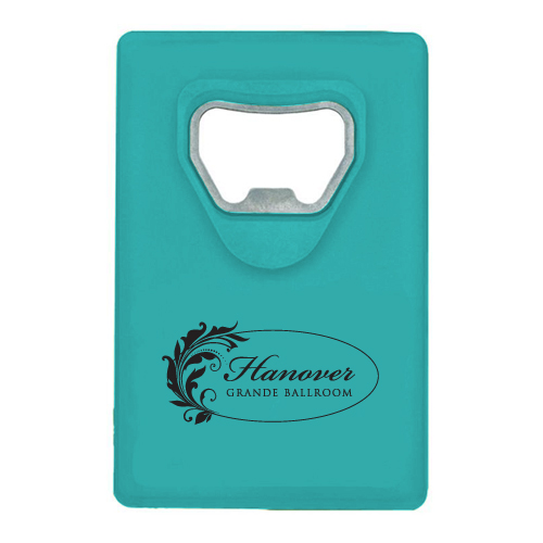 Credit Card Bottle Opener Translucent Aqua