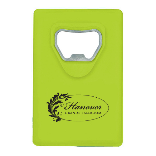 Credit Card Bottle Opener Translucent Lime Green