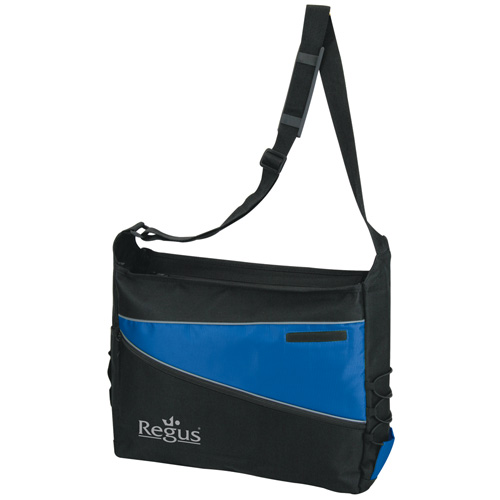 2 Tone Computer Messenger Bag Blue