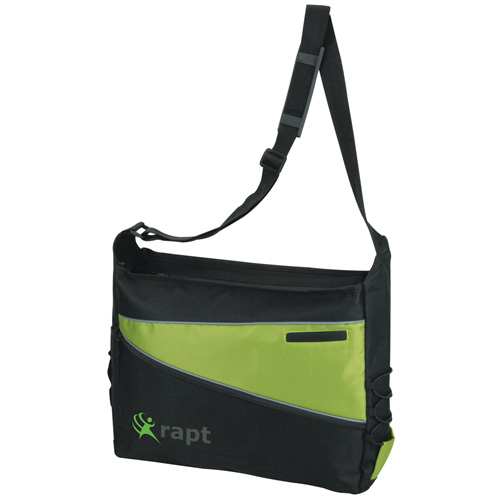 2 Tone Computer Messenger Bag Lime Green