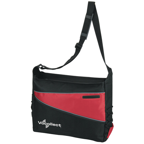2 Tone Computer Messenger Bag Red