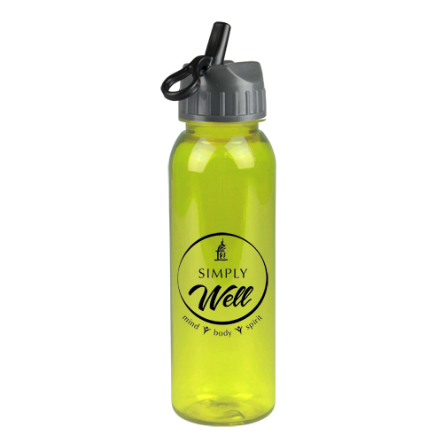Poly-Pure Bottle with Flip Straw Lid