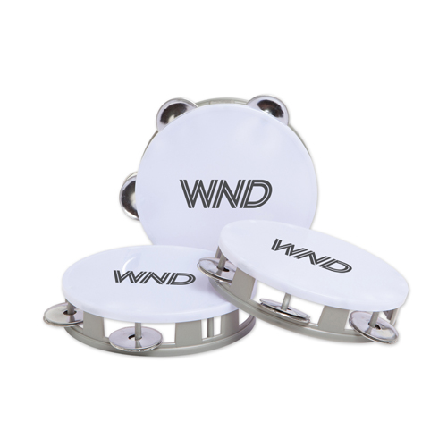 White Top Tambourines Silver