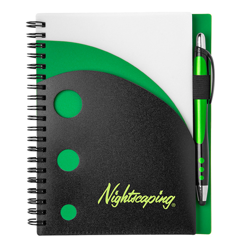 Illusion Notebook Green