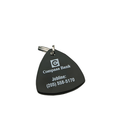 Triangle Compass Key Chain Black