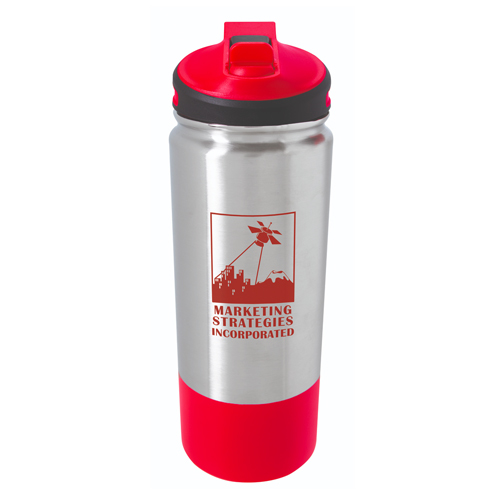 Stainless Hiking Bottle - 25oz. Red