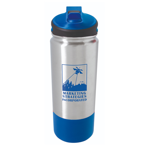 Stainless Hiking Bottle - 25oz. Blue