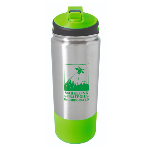 Stainless Hiking Bottle - 25oz. Lime