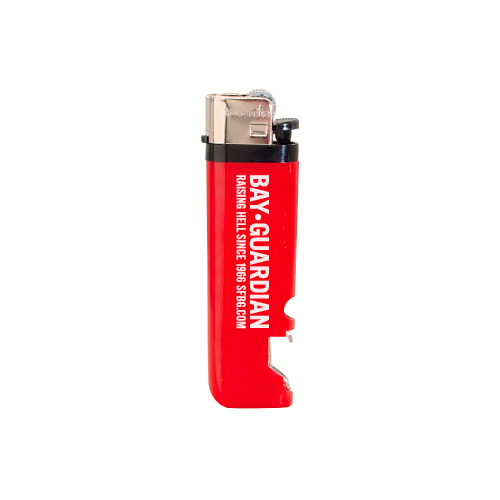 Lighter with Bottle Opener Red