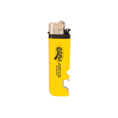 Lighter with Bottle Opener Yellow