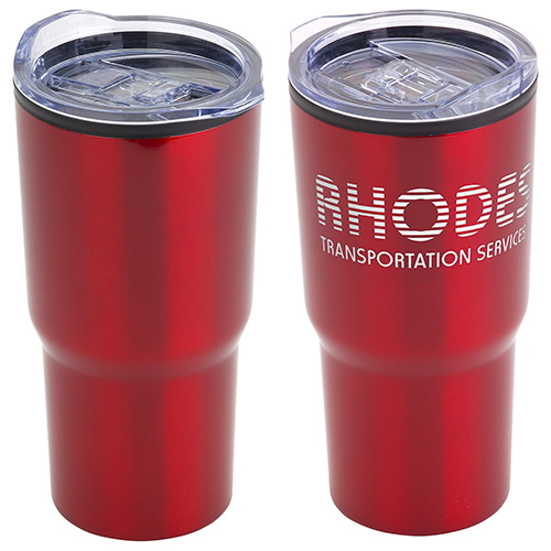 Odyssey 20oz. Stainless Steel/Polypropylene Travel Tumbler  Red