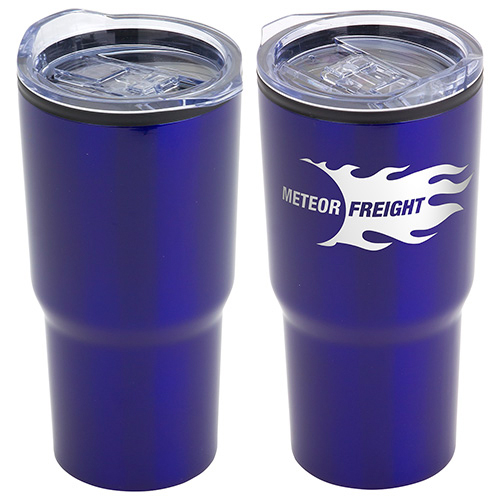 Odyssey 20oz. Stainless Steel/Polypropylene Travel Tumbler  Blue