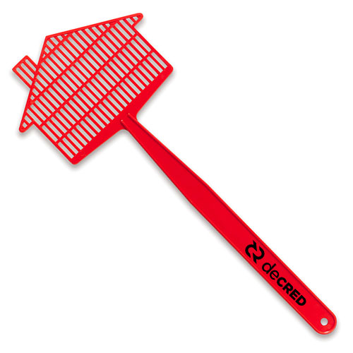 Medium House Fly Swatter  Red